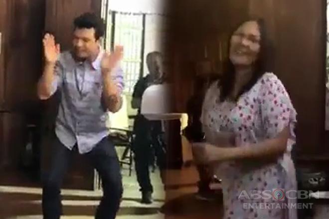 WATCH: Sayawan at kulitan sa set ng 'Halik' in between takes!