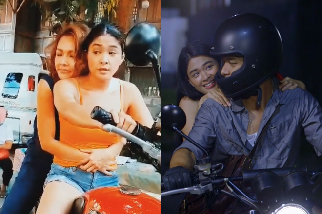 Yam Concepcion and Niña Dolino re-enact Halik's angkas scene