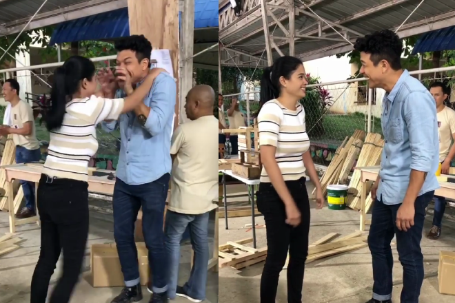 WATCH: Harutan at kulitan sa set ng 'Halik'